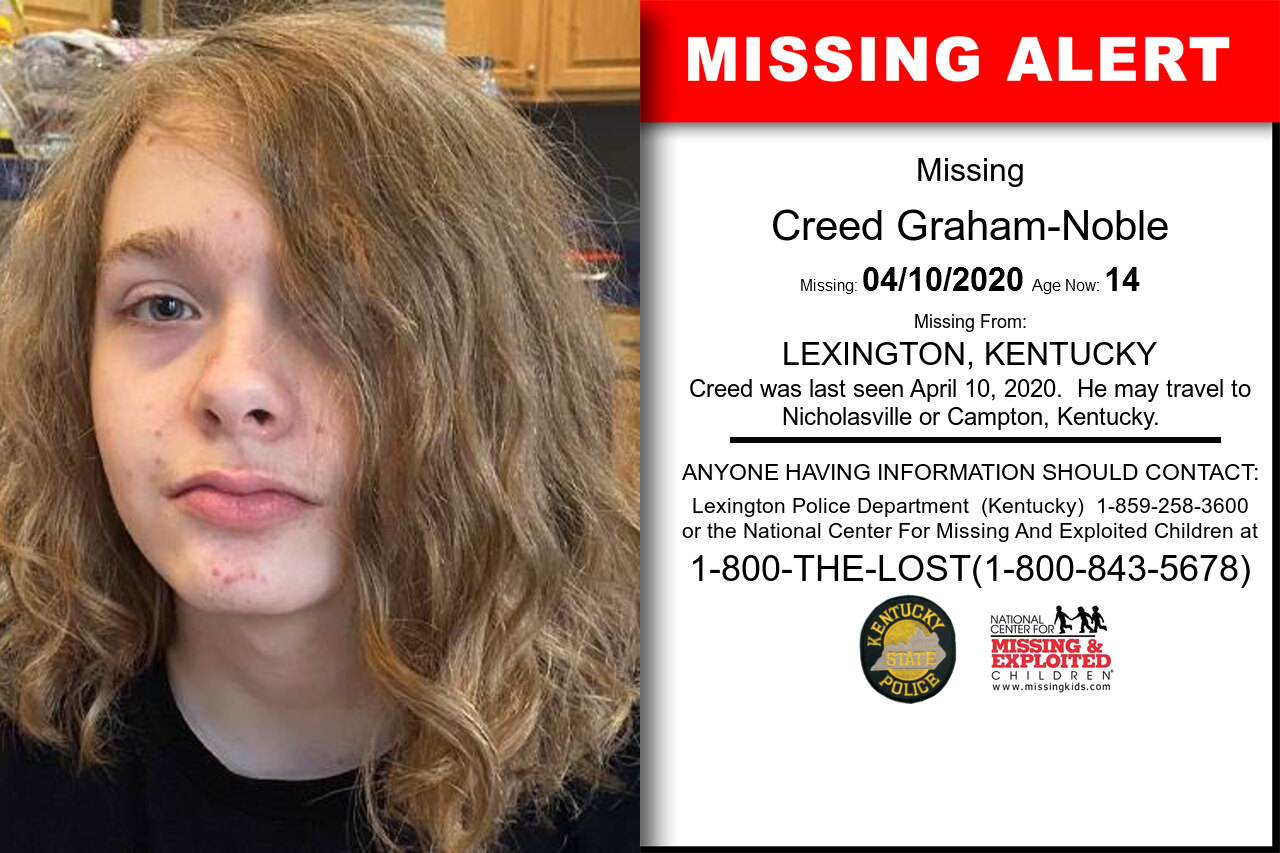 Creed_Graham-Noble missing in Kentucky