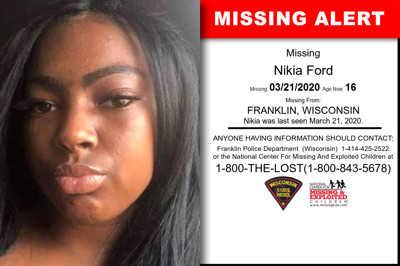 Nikia_Ford missing in Wisconsin