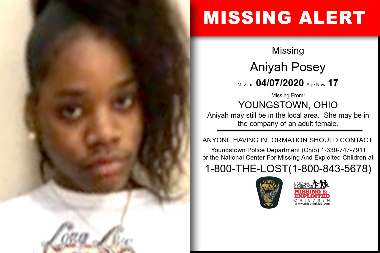 Aniyah_Posey missing in Ohio