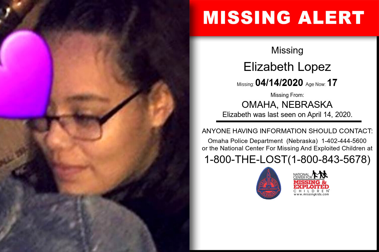 Elizabeth_Lopez missing in Nebraska