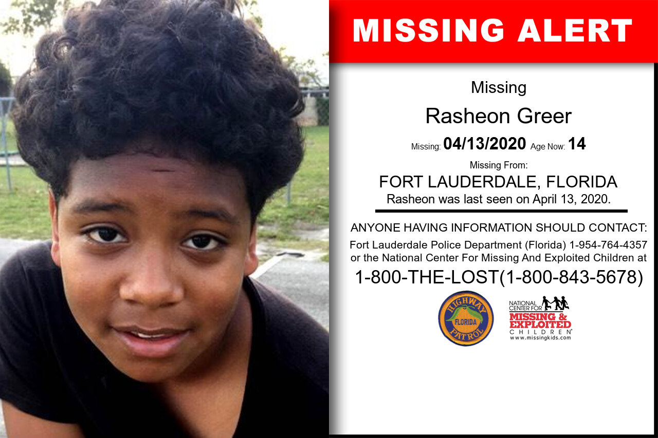 Rasheon_Greer missing in Florida
