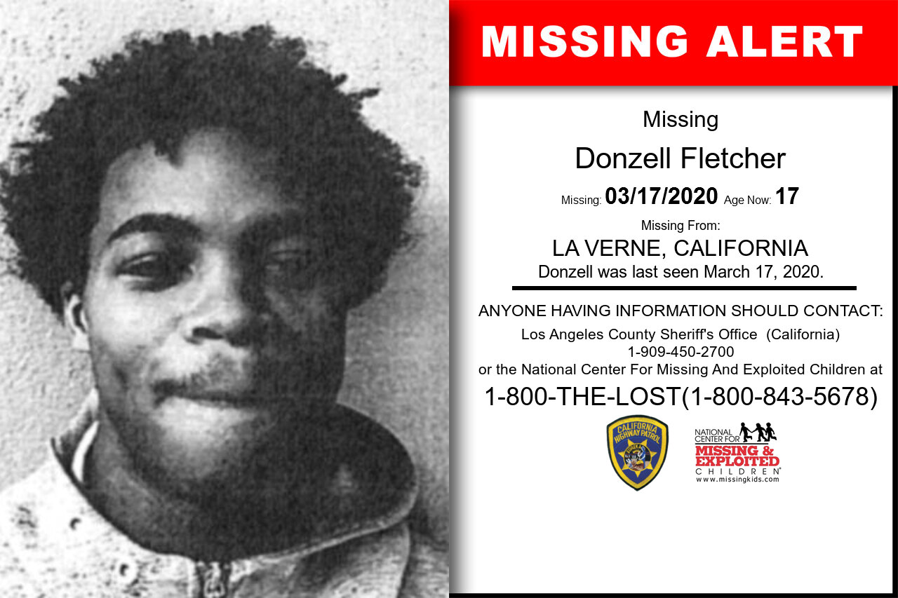 Donzell_Fletcher missing in California
