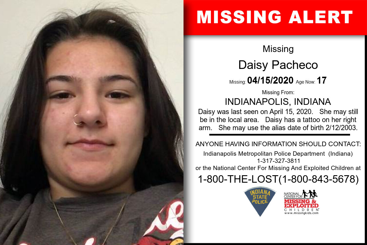 Daisy_Pacheco missing in Indiana