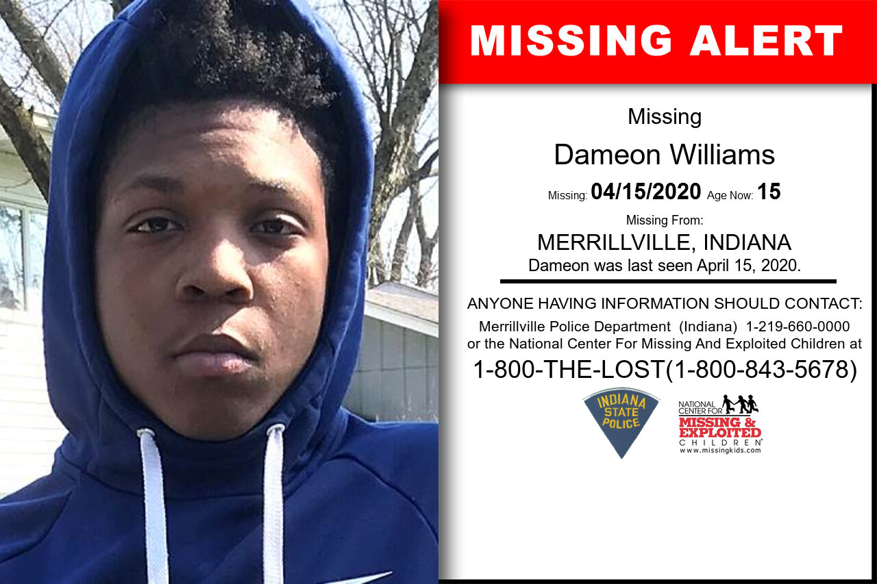 Dameon_Williams missing in Indiana