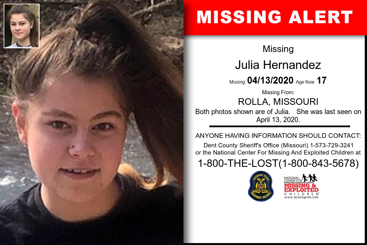 Julia_Hernandez missing in Missouri