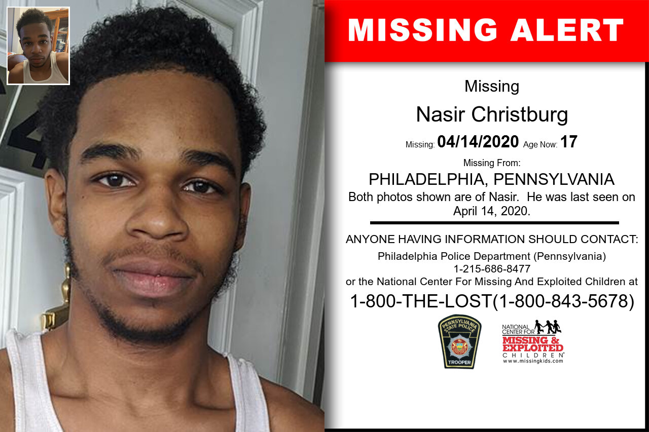 Nasir_Christburg missing in Pennsylvania