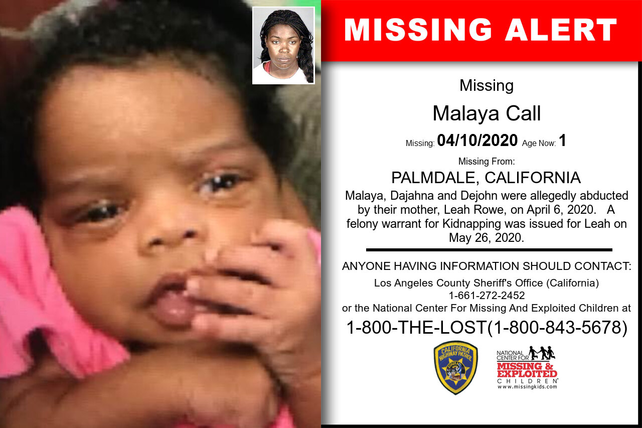Malaya_Call missing in California