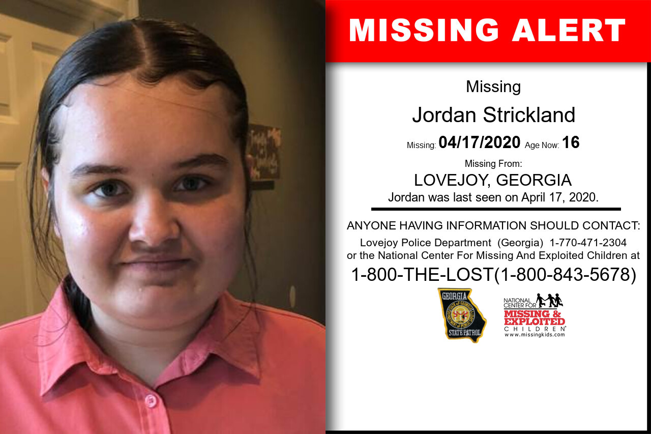 Jordan_Strickland missing in Georgia