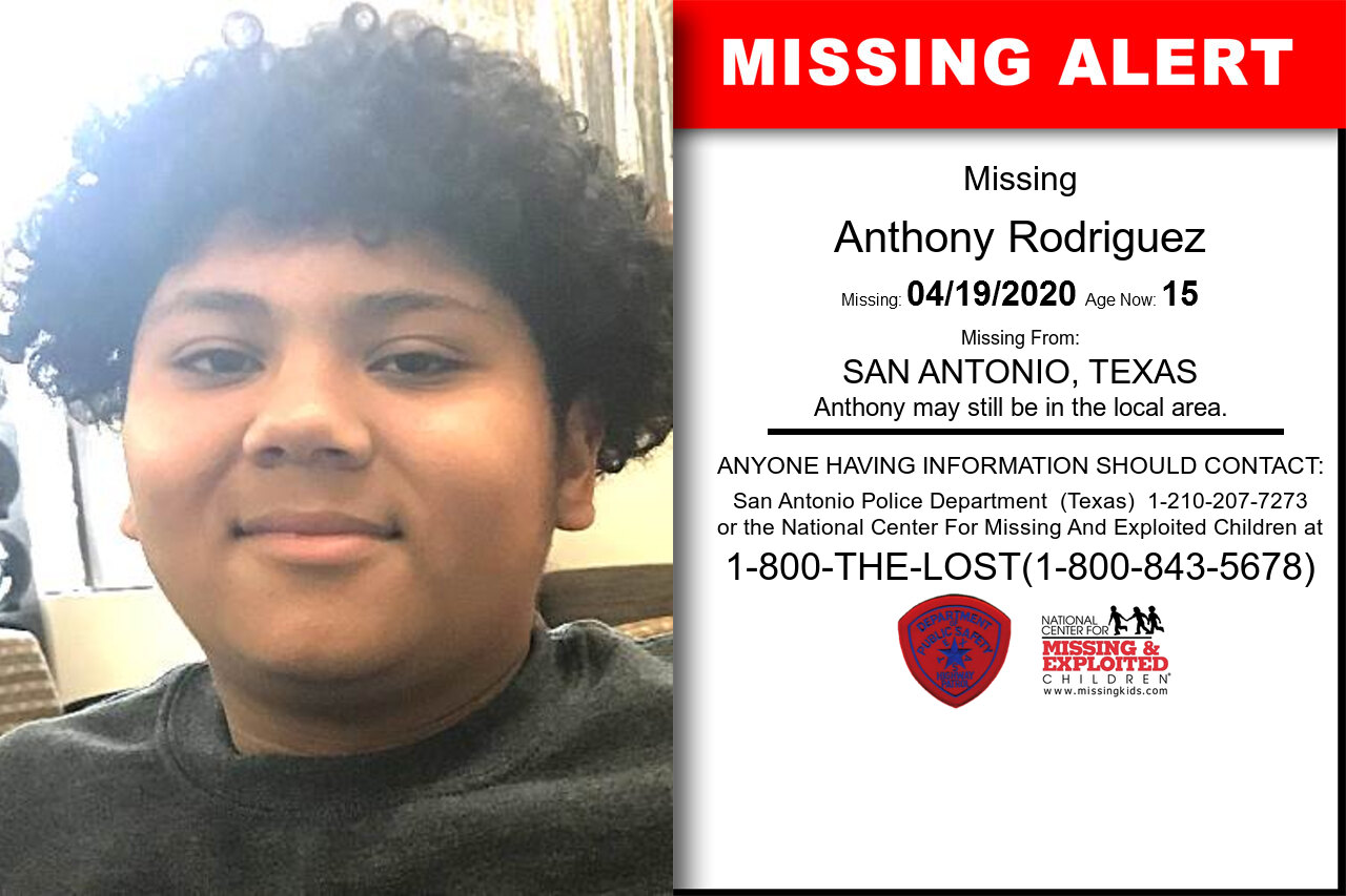 Anthony_Rodriguez missing in Texas
