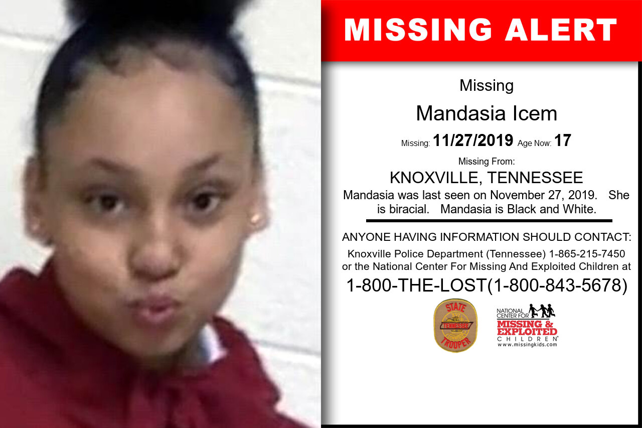 Mandasia_Icem missing in Tennessee