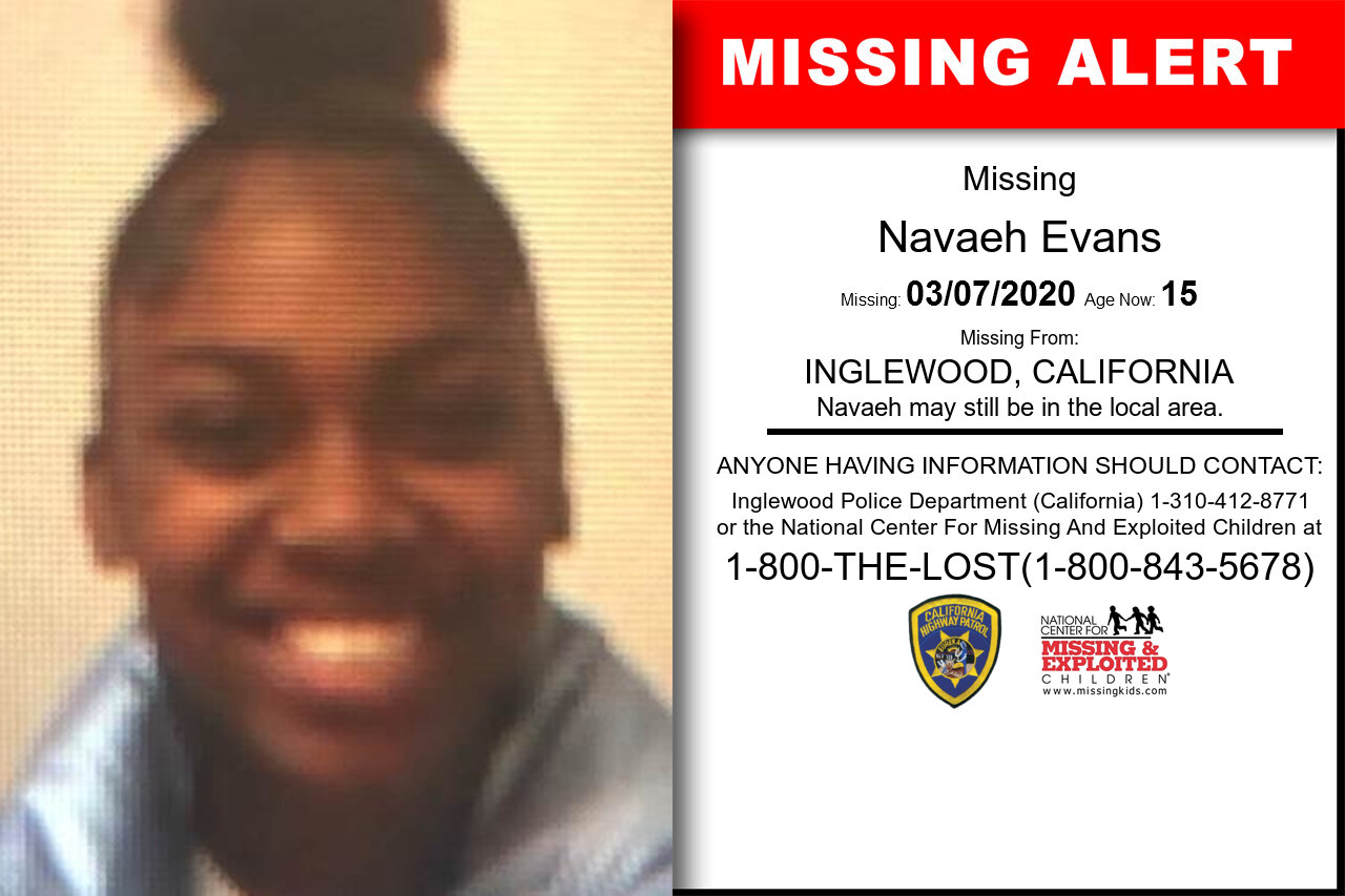 Navaeh_Evans missing in California