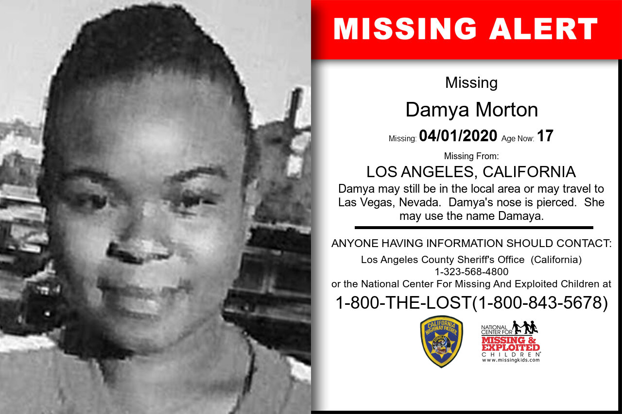 Damya_Morton missing in California