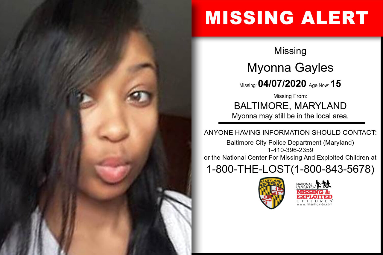 Myonna_Gayles missing in Maryland