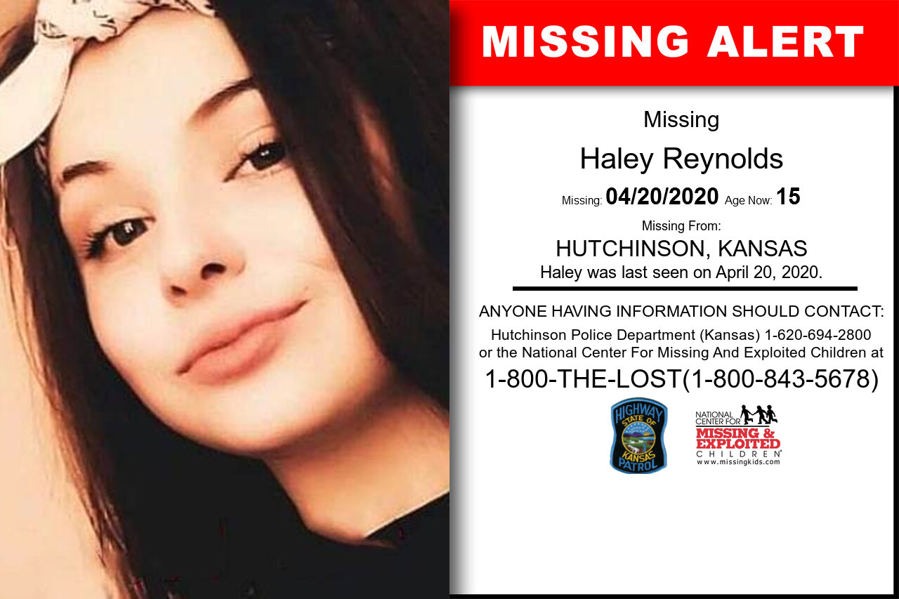Haley_Reynolds missing in Kansas