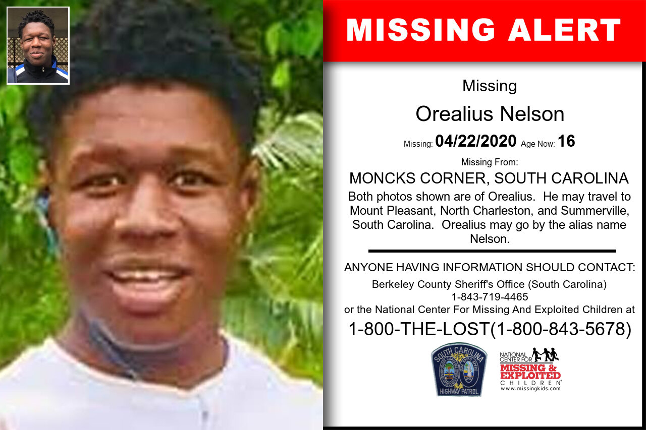 Orealius_Nelson missing in South_Carolina