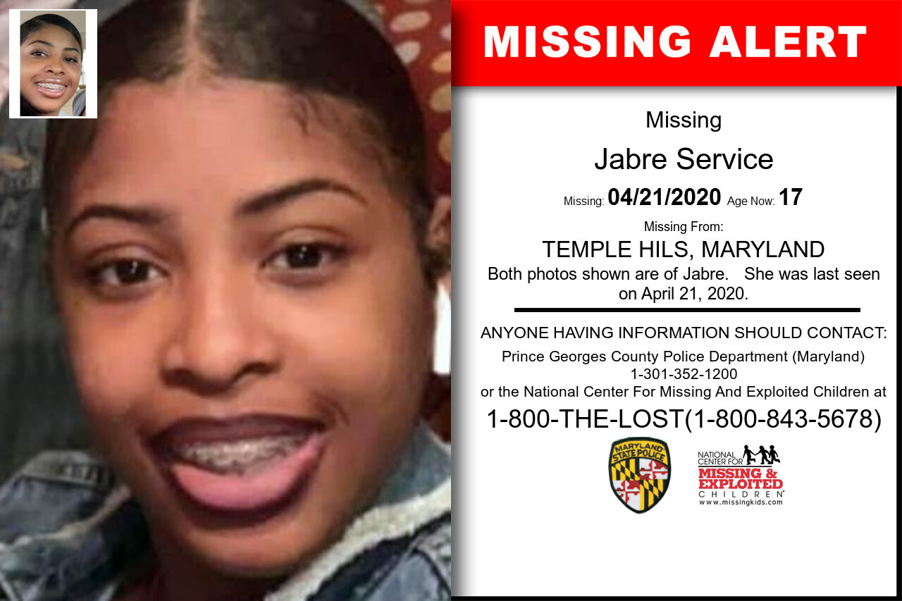 Jabre_Service missing in Maryland