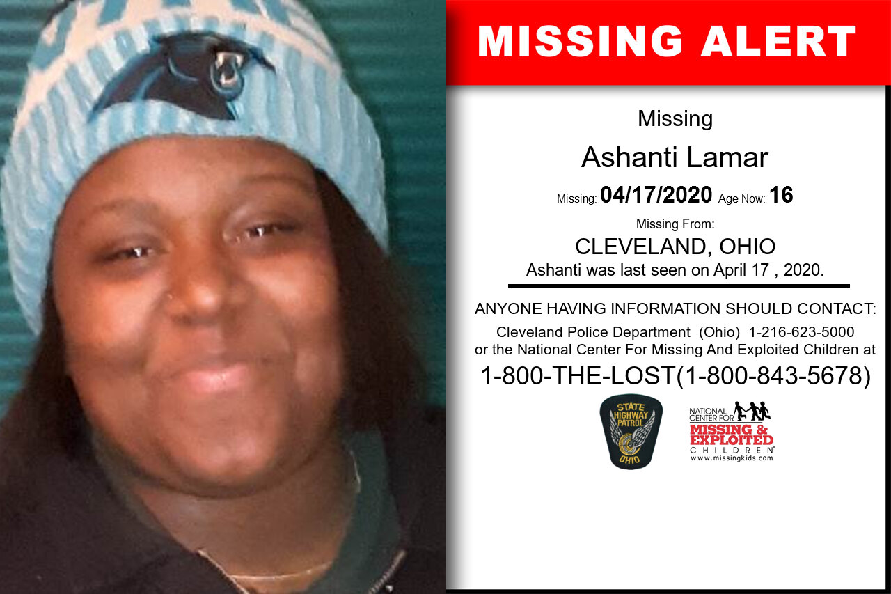 Ashanti_Lamar missing in Ohio
