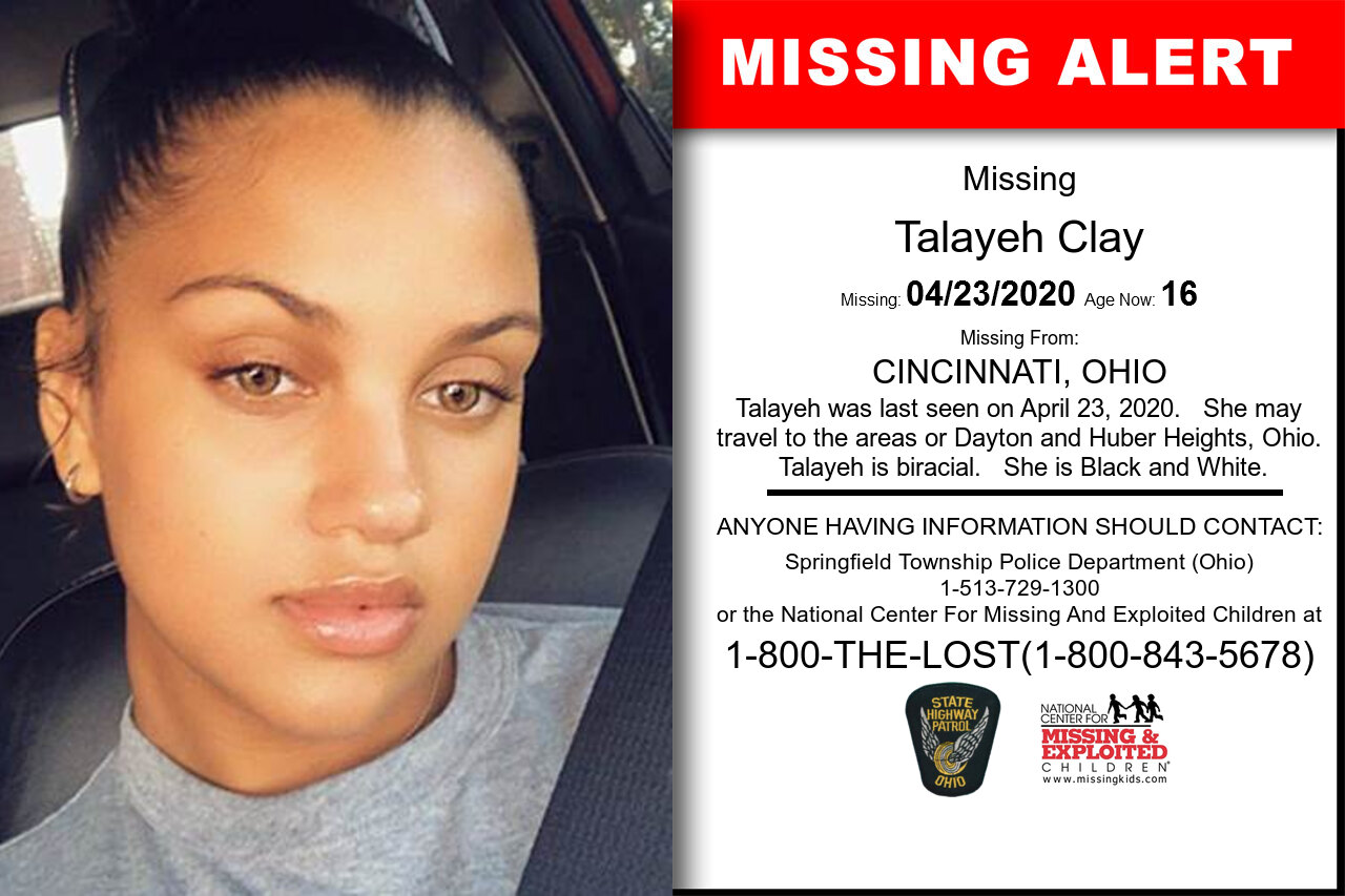 Talayeh_Clay missing in Ohio