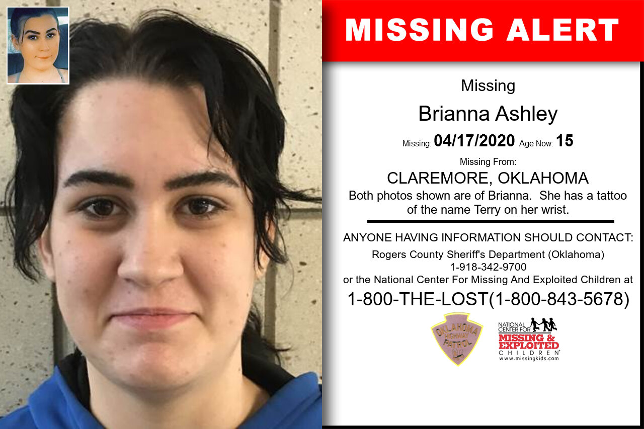 Brianna_Ashley missing in Oklahoma