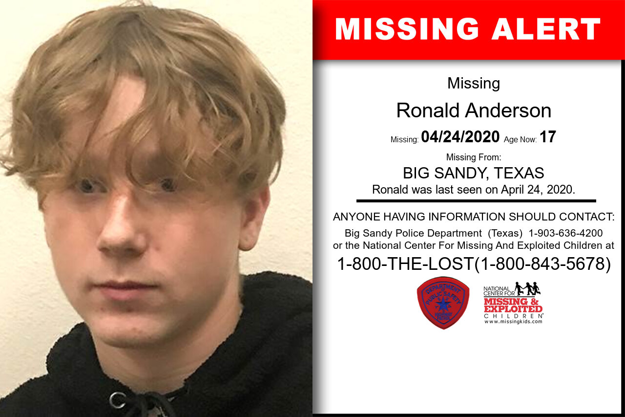 Ronald_Anderson missing in Texas