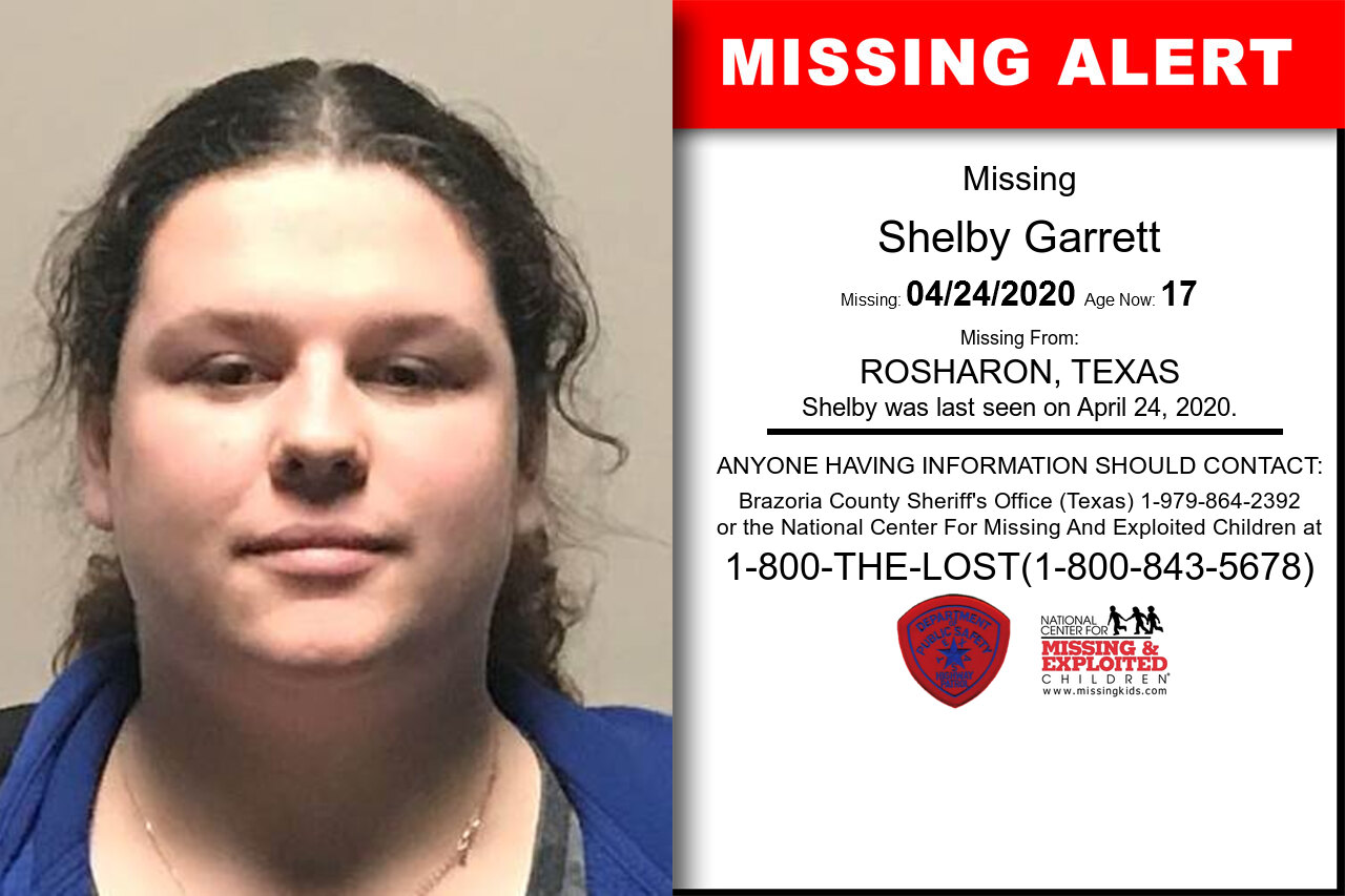 Shelby_Garrett missing in Texas