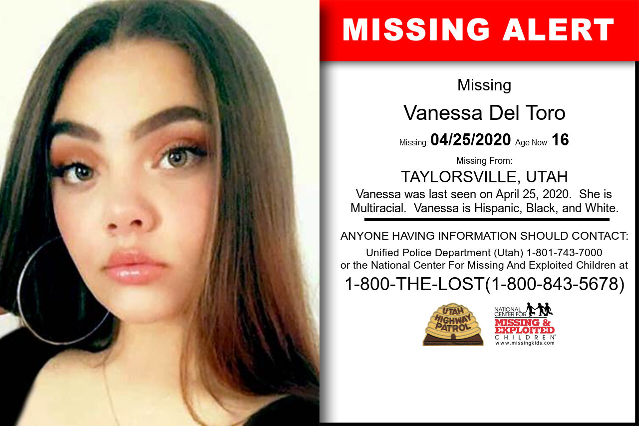 Vanessa_Del_Toro missing in Utah