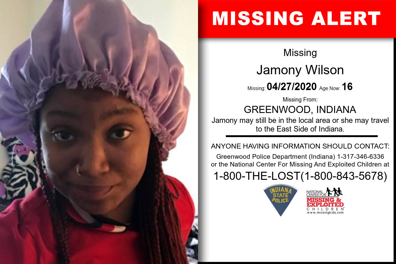 Jamony_Wilson missing in Indiana