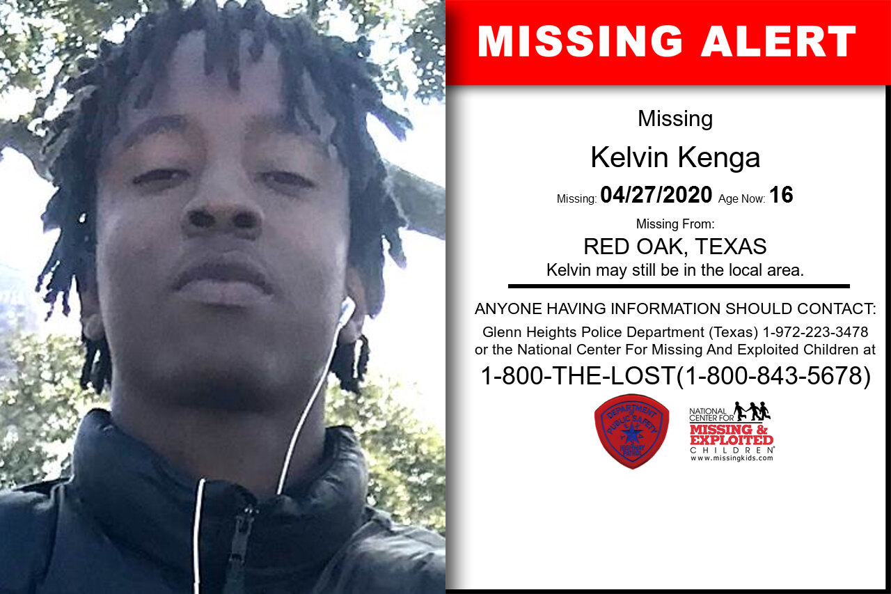 Kelvin_Kenga missing in Texas