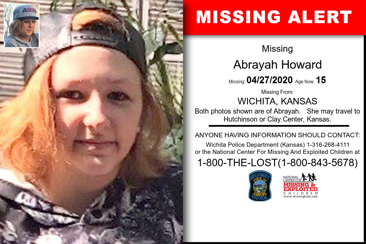 Abrayah_Howard missing in Kansas