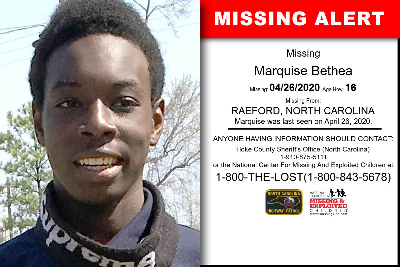 Marquise_Bethea missing in North_Carolina