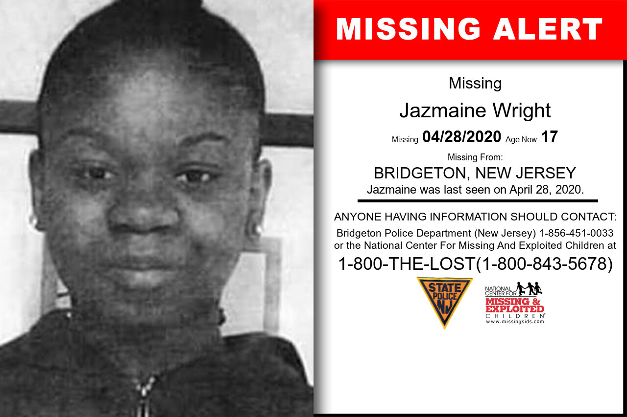 Jazmaine_Wright missing in New_Jersey