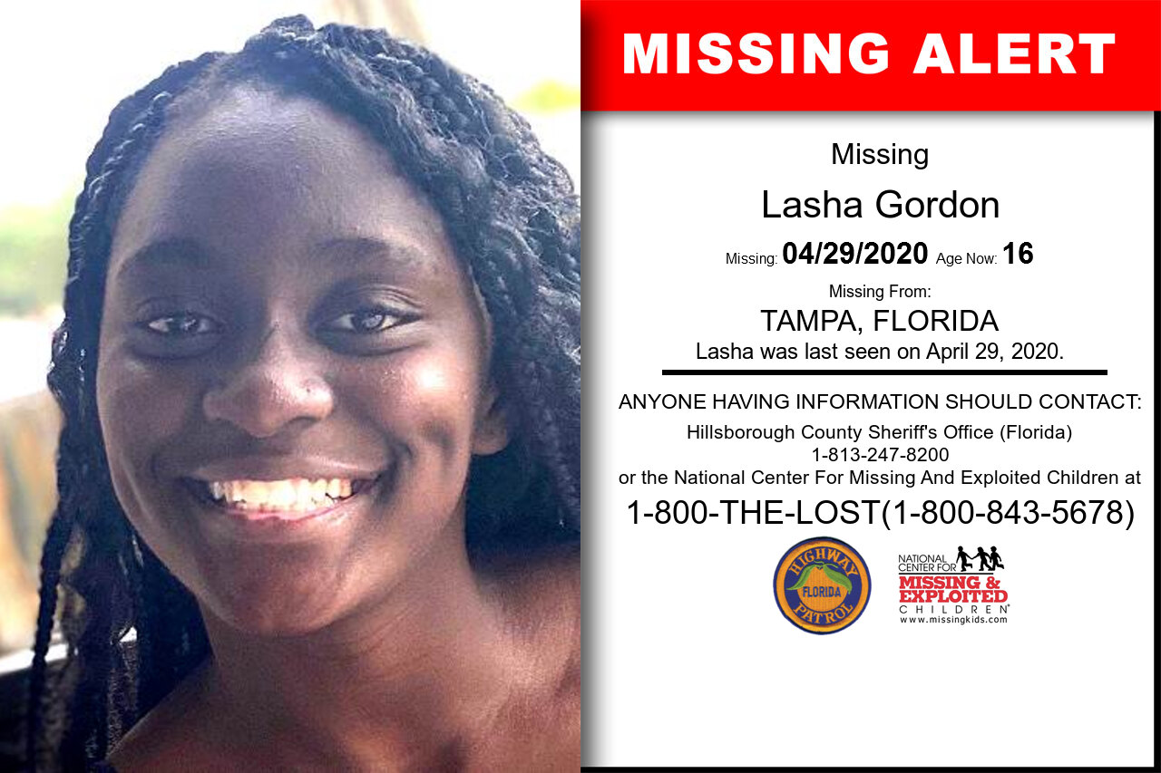 Lasha_Gordon missing in Florida