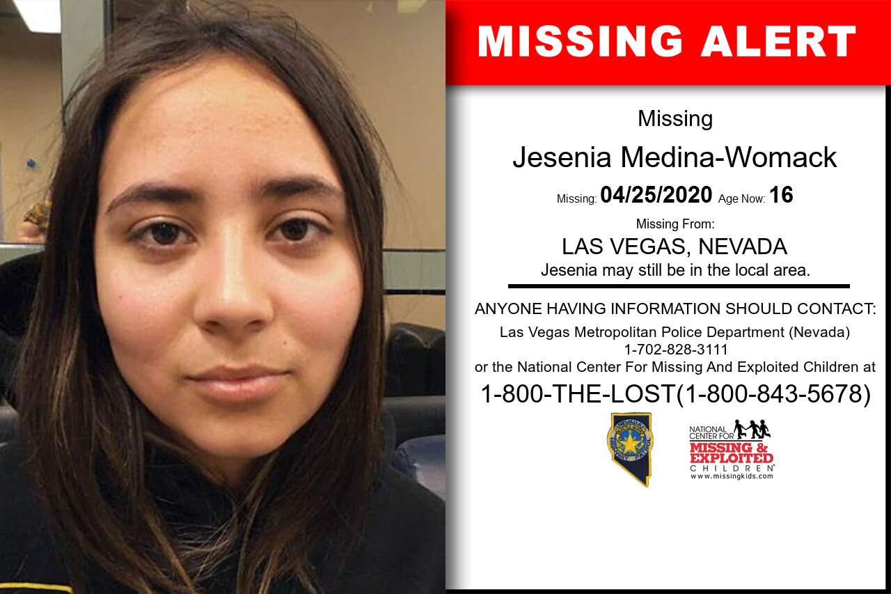 Jesenia_Medina-Womack missing in Nevada