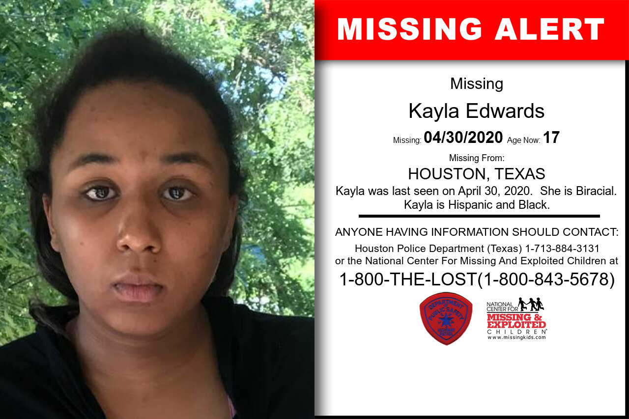 Kayla_Edwards missing in Texas