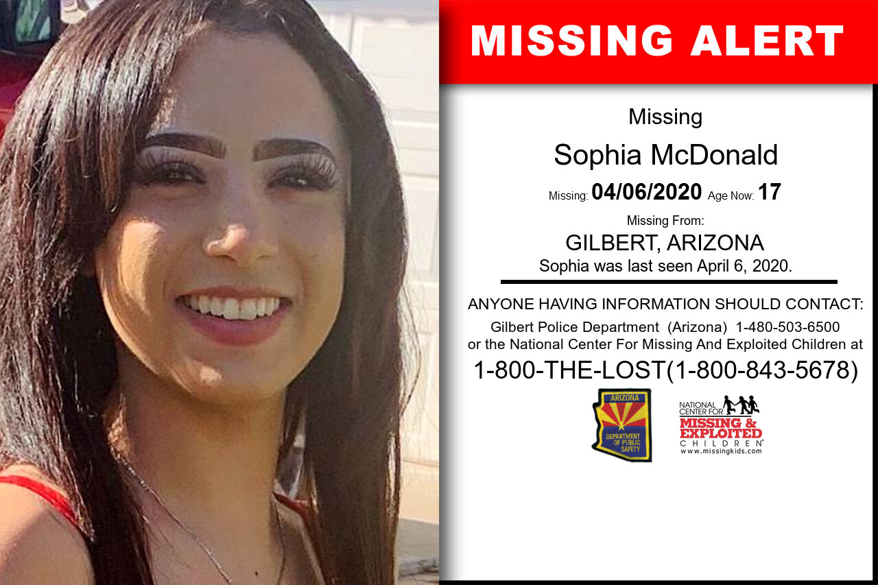 Sophia_McDonald missing in Arizona
