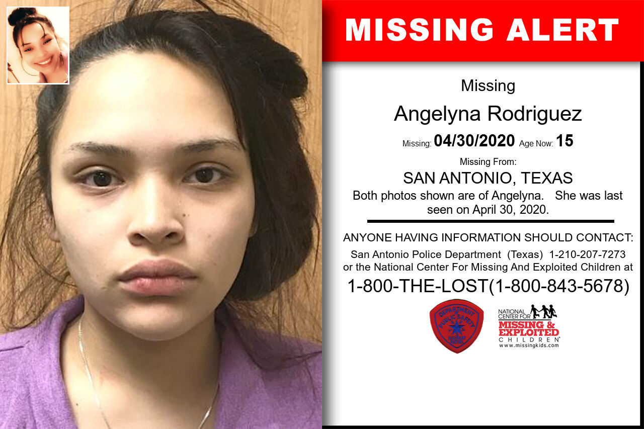 Angelyna_Rodriguez missing in Texas