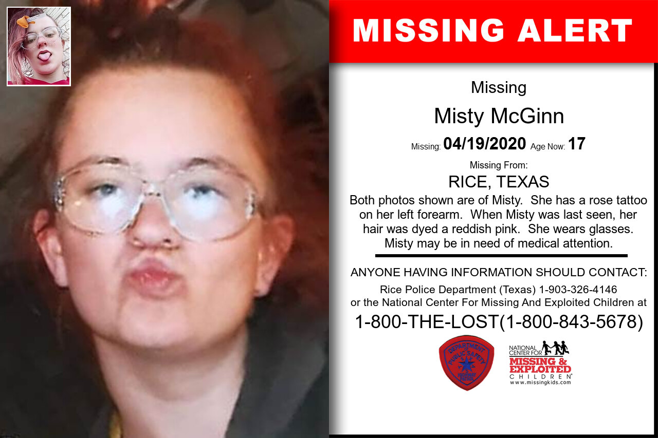 Misty_McGinn missing in Texas
