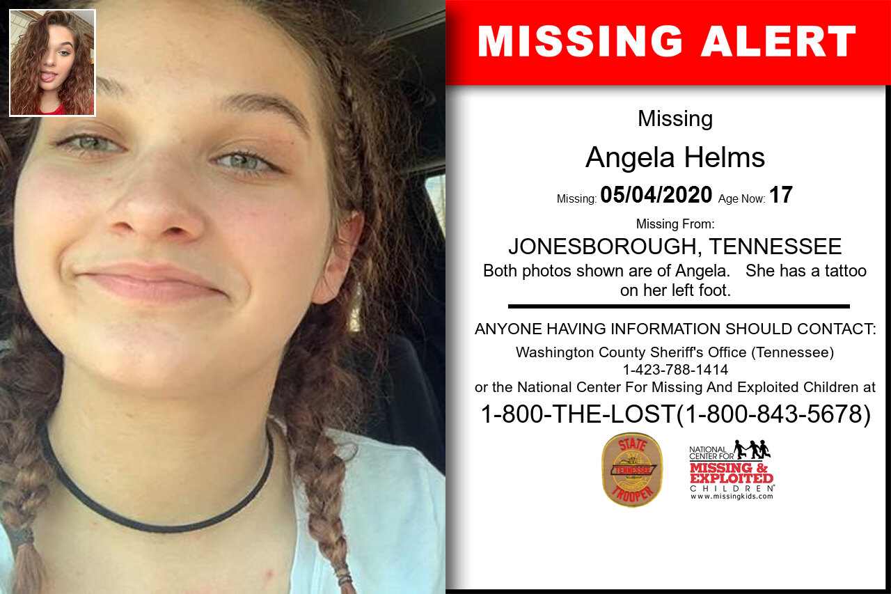 Angela_Helms missing in Tennessee