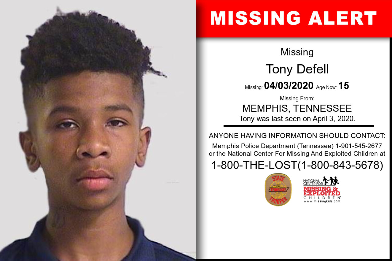Tony_Defell missing in Tennessee
