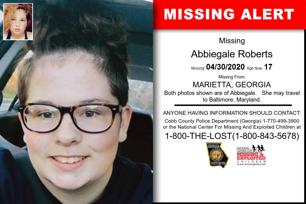 Abbiegale_Roberts missing in Georgia