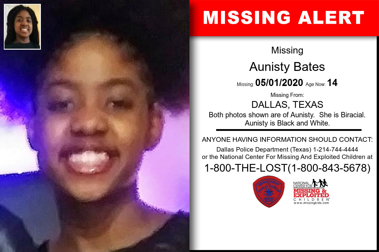 Aunisty_Bates missing in Texas