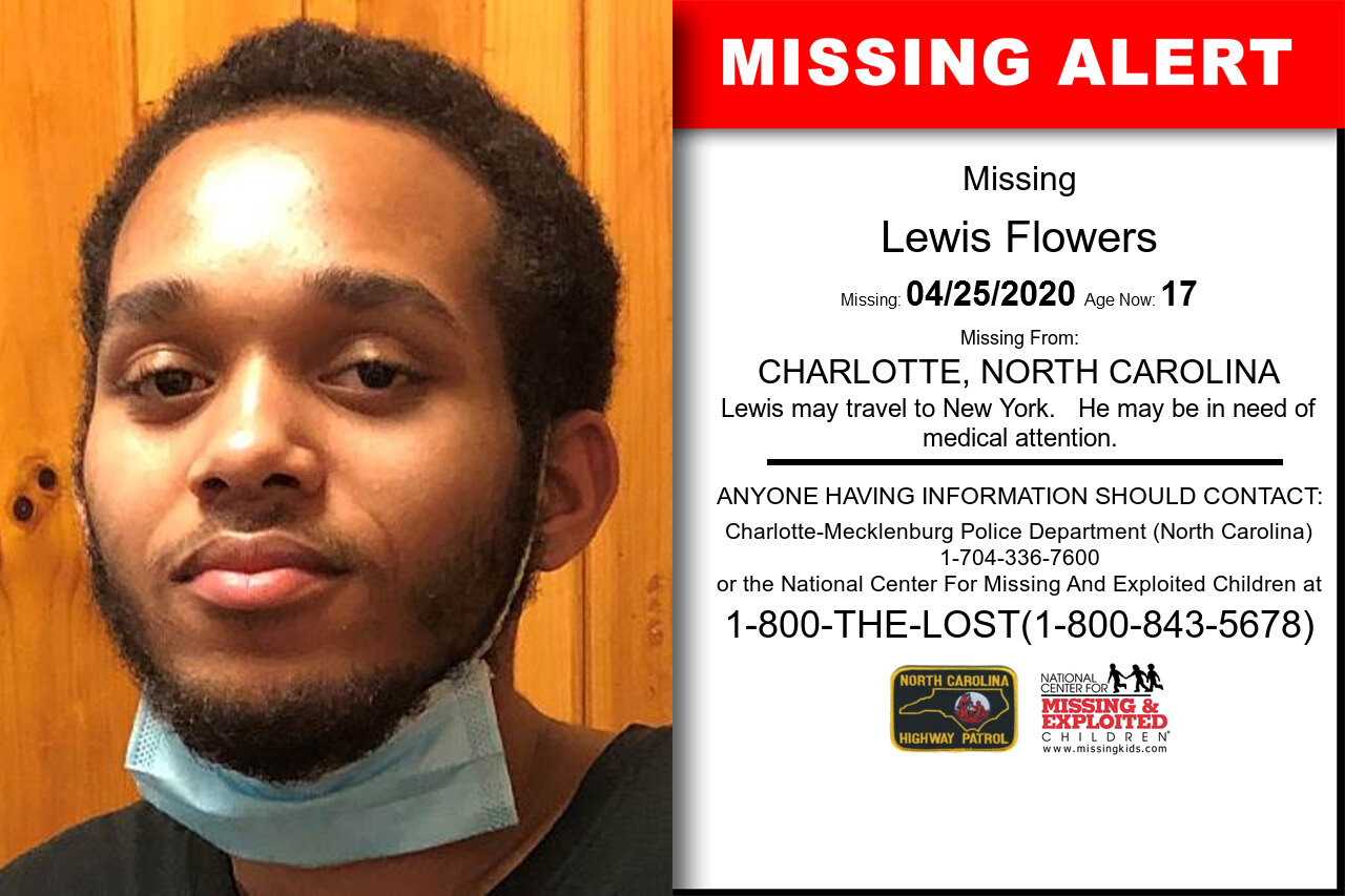 Lewis_Flowers missing in North_Carolina