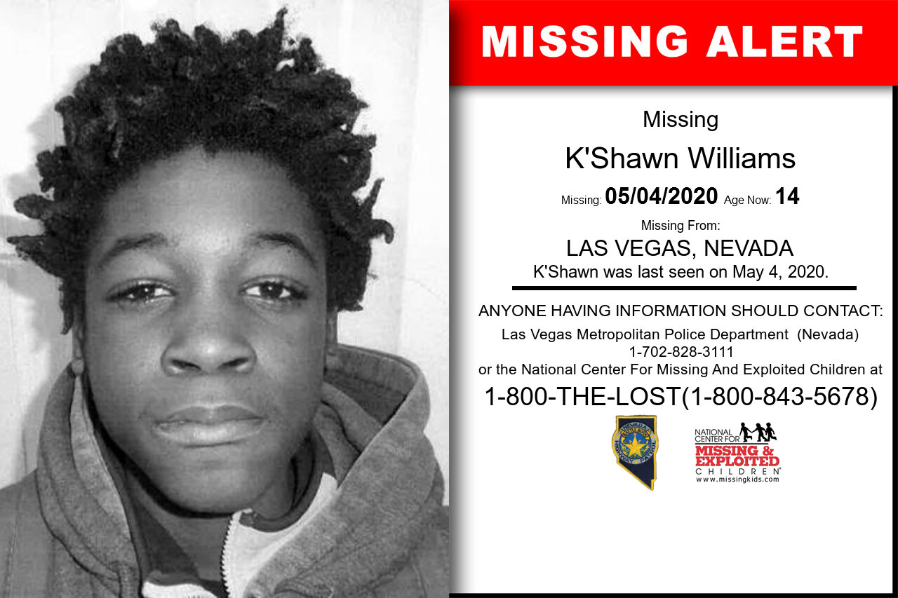 K'Shawn_Williams missing in Nevada