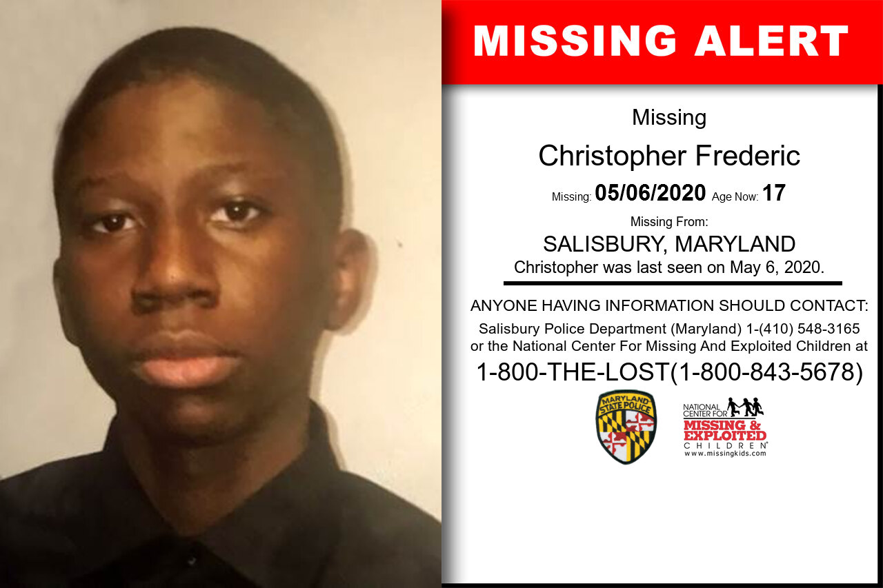Christopher_Frederic missing in Maryland