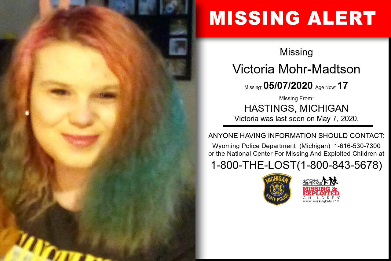 Victoria_Mohr-Madtson missing in Michigan