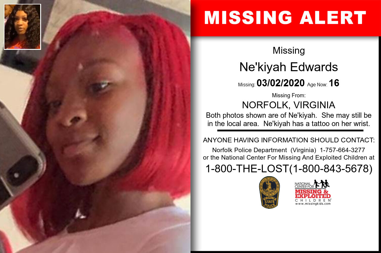 Ne'kiyah_Edwards missing in Virginia