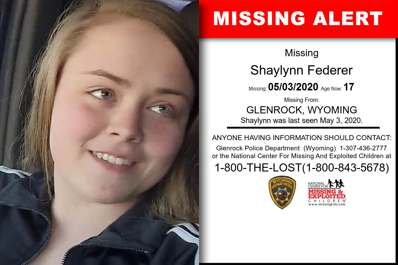 Shaylynn_Federer missing in Wyoming
