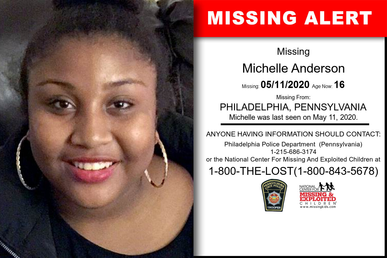 Michelle_Anderson missing in Pennsylvania