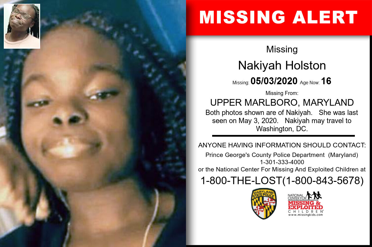 Nakiyah_Holston missing in Maryland