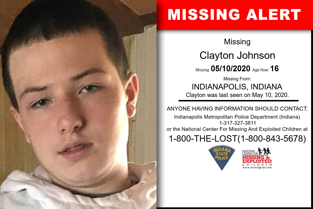 Clayton_Johnson missing in Indiana